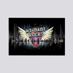 My Baby Rocks [d] Rectangle Magnet